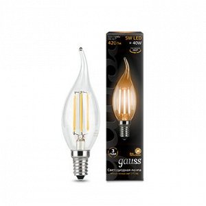 Лампа Гаусс LED Filament Candle tailed E14 5W 2700K
