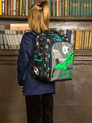 Школьный ранец NUK21-B2001-01 черный; зеленый мальчики