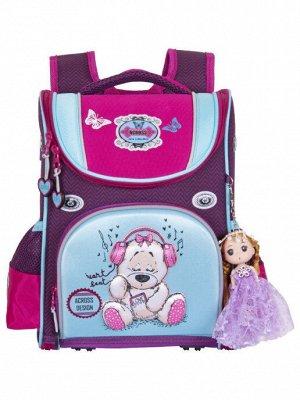 Школьный ранец ACR20-291-09 фиолетовый; голубой девочки