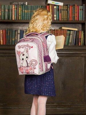 Школьный ранец NUK21-G2001-01 французский серый; светло-коричневый девочки