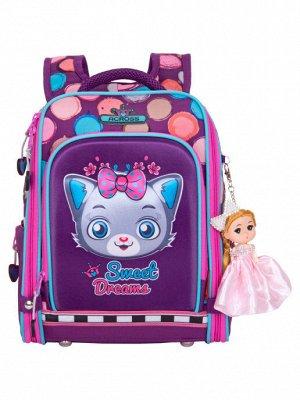 Школьный ранец HK2020-6 сиреневый девочки