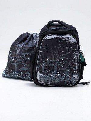 Школьный ранец NUK21-B1001-01 черный; серый мальчики
