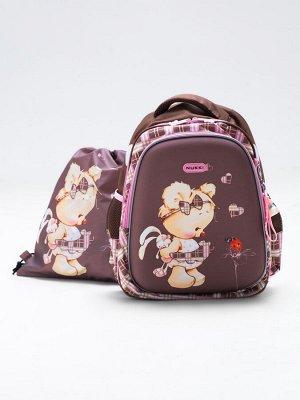 Школьный ранец NUK21-G1001-01 охра; темно-коричневый девочки