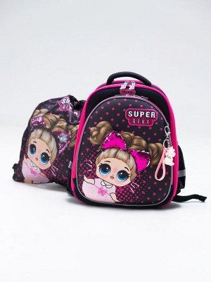 Школьный ранец NUK21-G9001-03 черный; розовый девочки