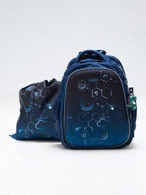 Школьный ранец NUK21-B1001-02 темно-синий; голубой мальчики