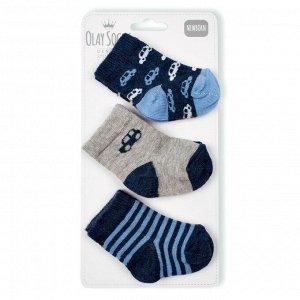 Комплект носков из трех пар Olay для новорожденных