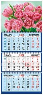 """Квартальный календарь на 2022 год """"Розовые цветы"""""""