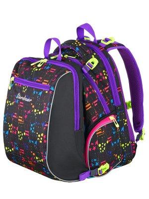2308 Комплект школьный рюкзак + мешок для сменной обуви STERNBAUER, 42х28х18см
