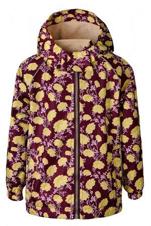 Куртка-ветровка для девочки Sammy, бордовая (цветок)