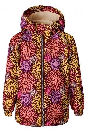 Куртка-ветровка для девочки Sammy, бордовая (кляксы)