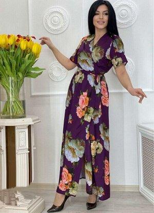 Платье Ткань Прадо Пояс на резинке Ремешок в комплекте О/груди платья: 48 размер - 100см Дл/платья: 48 размер - 136см