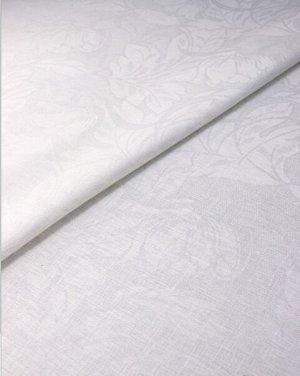 """Лен скатертной жаккард """"Созидание"""" цв.белый, ш.1.5м, лен-100%, 200гр/м.кв"""