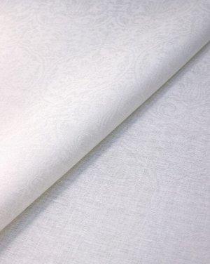 """Лен скатертной жаккард """"Ажурные вензеля"""" цв.слоновая кость, ш.1.45м, лен-100%, 200гр/м.кв"""