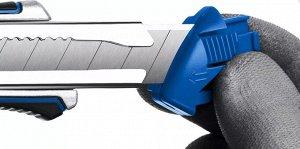 Металлический обрезиненный нож с винтовым фиксатором Титан-В