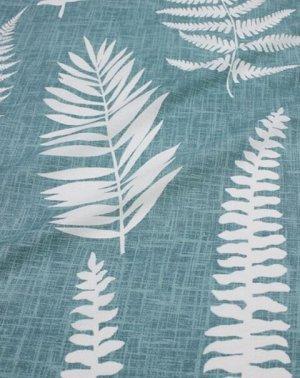 """Поплин """"Крупные листья папоротника на мятной дымке"""", ш.2.2м, хлопок-100%, 115гр/м.кв"""