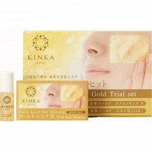 KINKA Золотая маска — набор стартовый (эссенция и золотые листки)