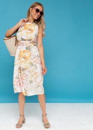 """Платье """"Иоланта"""" для беременных и кормящих; белый"""