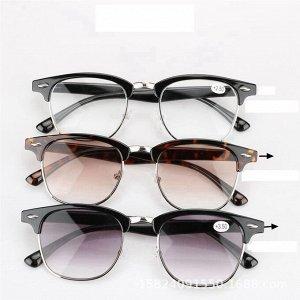 Очки для зрения с защитой от УФ цвет оправы черно-серебристый