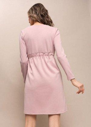 """Платье """"Уитни"""" для беременных и кормящих; пудровый"""