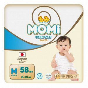 MOMI Ultra Care подгузники-трусики   M (6-10 кг ) 58  шт
