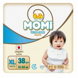 MOMI Ultra Care подгузники-трусики XL (12-20 кг) 38  шт