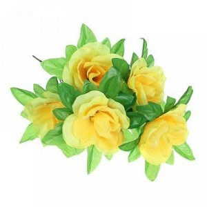 С Цвток искусственный букет роз, 37-42 см, пластик, 6 цветов