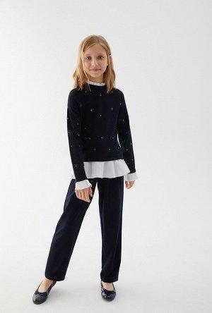 Джемпер детский для девочек Nicolleta темно-синий
