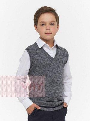 Жилет для мальчиков 183-7095 049/4027 т.серый/т.синий