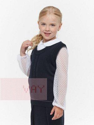 Жилет для девочек 752 37-5759/7103 т.синий/серый