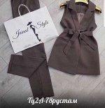 Женский костюм-двойка. ткань Барби