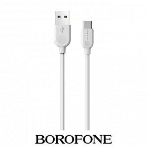 USB Кабель Borofone Easy-Use Micro USB / 2.4A