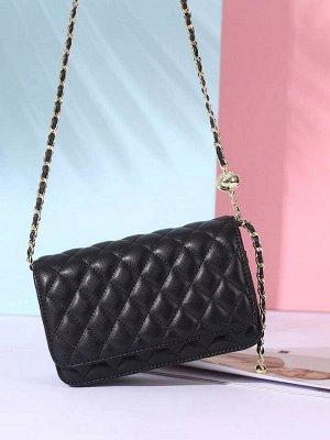 Женская сумка кросс-боди из натуральной кожи, цвет черный