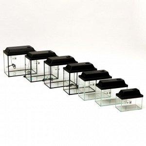 """Комплект аквариумов прямоугольныX""""Матрешка"""" с крышками,  5, 10, 15, 20, 25 ,30, 35л"""