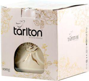 """Подарочный набор Tarlton: керамическая сахарница """"Алмаз"""" + чай черный листовой Tarlton OP1 100 г"""