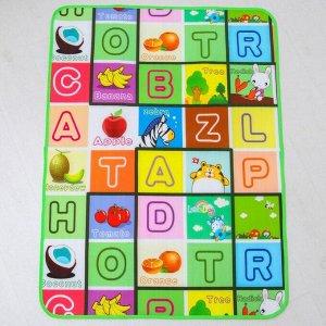 Коврик детский на фольгированной основе, «Алфавит», размер 117х90 см, цвета МИКС