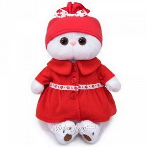 Мягкая игрушка Кошечка Лили в красном пальто 27 см (Budi Basa)