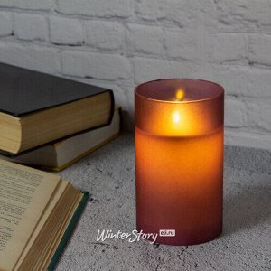 Светодиодная свеча с имитацией пламени Magic Flame в стакане 12.5 см фиолетовая (Peha)