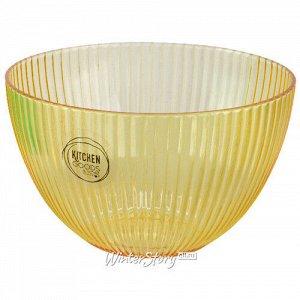 Пластиковый салатник Гранвиль 14*9 см жёлтый (Kaemingk)