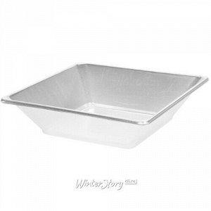 Пластиковая салатница Нисуаз 25*9 см серебряная, 2 шт (Koopman)