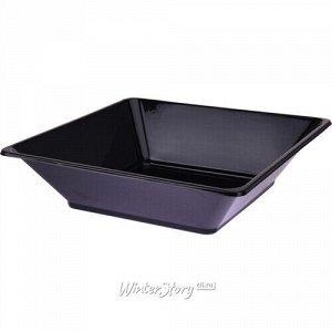 Пластиковая салатница Нисуаз 25*7 см черная, 2 шт (Koopman)