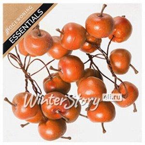 Декоративные яблоки Оранжевые на проволоке 20 шт (Hogewoning)