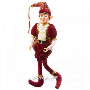 Кукла на елку Эльф Калеб - Сказки Братьев Гримм 25 см, подвеска (Due Esse Christmas)