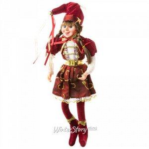 Кукла на елку Эльфийка Гретхен - Сказки Братьев Гримм 25 см, подвеска (Due Esse Christmas)