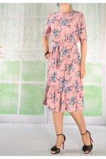 Платье 210-7 розовое/штапель