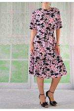 Платье 210-5 лилии/штапель/50-56