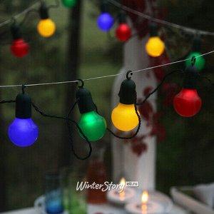 Гирлянда из лампочек Hooky 20 ламп, разноцветные LED, 5.7 м, зеленый ПВХ, IP44 (Star Trading)
