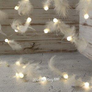 Светодиодная гирлянда Fluffy Dream 4.65 м, 40 теплых белых ламп, прозрачный ПВХ, IP20 (Kaemingk)
