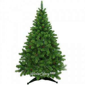 Искусственная елка Сказка с инеем и шишками 120 см, ЛЕСКА (MOROZCO)