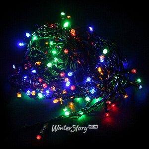 Светодиодная гирлянда для дома Разноцветные Шарики, 140 разноцветных LED ламп, 7.2 м, зеленый ПВХ, контроллер, IP20 (Snowmen)