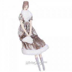 Декоративная фигура Мадам Прюденс в платье шампань 47 см (Edelman)